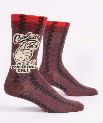 Coolest Guy on the Conference Call Men's Socks by Blue Q