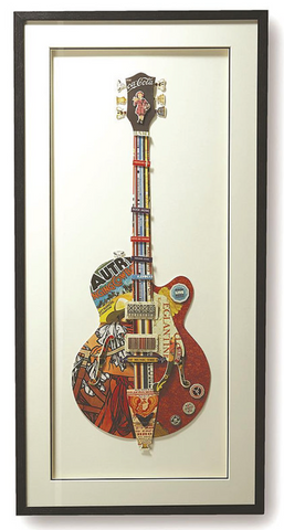 Guitar Taylor Paper Collage Wall Art