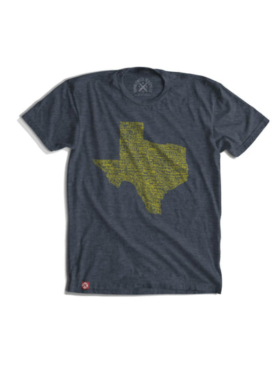 Gray Texas Towns T-Shirt by Tumbleweed TexStyles