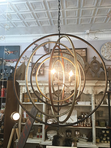 Geometric Large Metal Chandelier