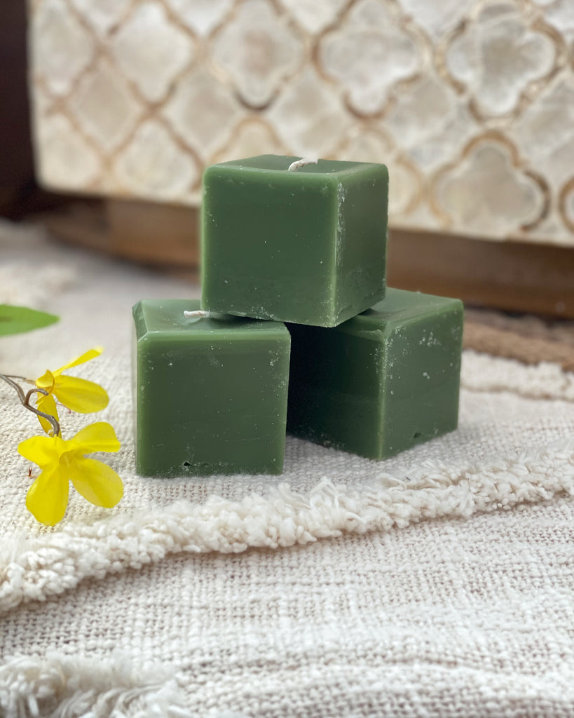Square Candles - Lime Zest and Sage