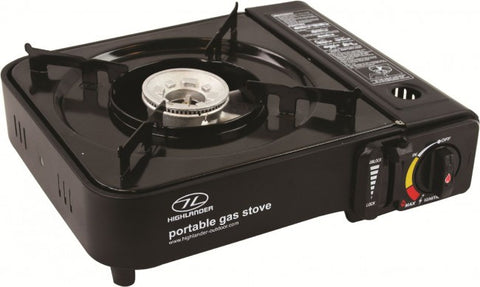 Portable Cooker Metallic Black  CAMPING STOVESHIGHLANDER- Mike Davies Leisure