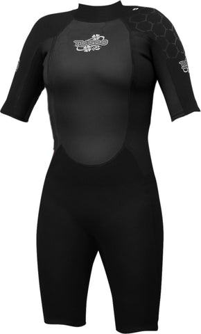 TWF Turbo Womens Shortie Wetsuit  WET SUITSTHE WETSUIT FACTORY- Mike Davies Leisure