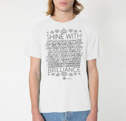 B&W Shine With Brilliance T-Shirt – Mens