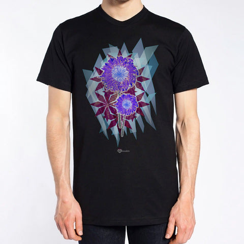 Arty Floral Burst T-Shirt – Mens