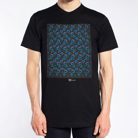 Modern Skull Grid T-Shirt – Mens