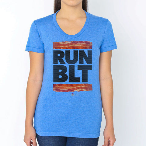 RUN BLT Music Bacon Lover T-Shirt – Womens
