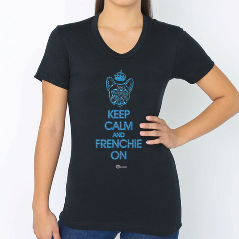 Keep Calm and French On T-Shirt – Womens
