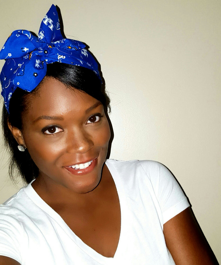 Big Blue Headwrap