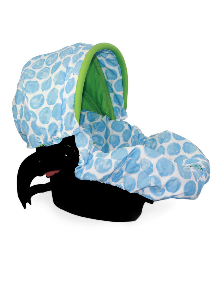 Infant Car Seat Cover in Blue Moon