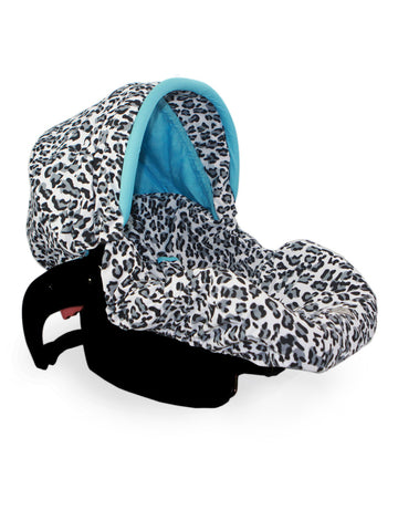 Infant Car Seat Cover in Snow Leopard