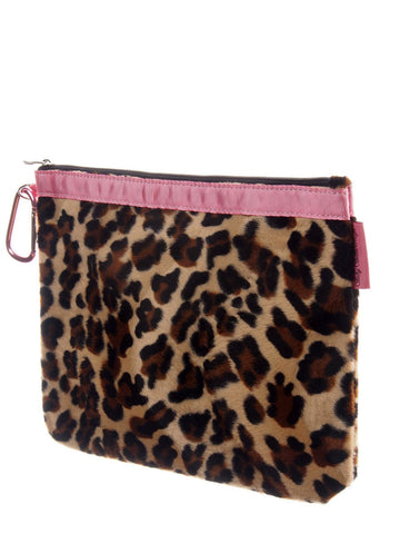 Diaper Clutch - Lollipop Leopard, Large