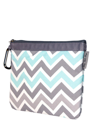 Diaper Clutch - Peek a Blue