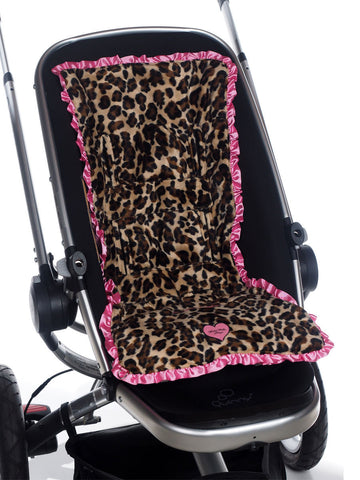 3-in-1 Stroller Pad in Lollipop Leopard