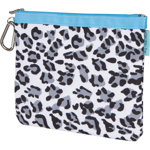 Diaper Clutch - Snow Leopard, Large