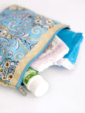Diaper Clutch - Blue Moon, Large