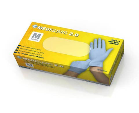 MediGuard 2.0 Nitrile Exam Gloves - Price per 100: $5.80
