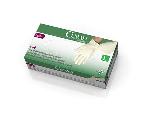 CURAD Powder-Free Textured Latex Exam Gloves