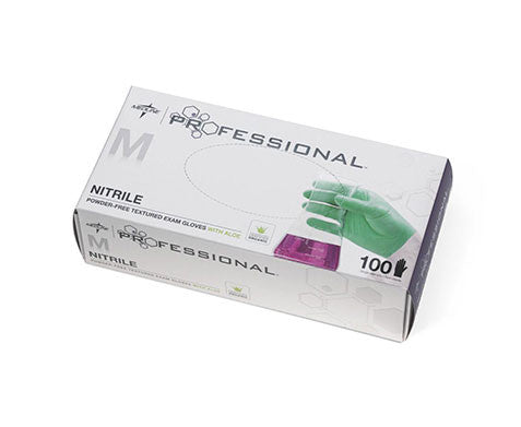 Medline Professional Nitrile Exam Gloves with Aloe - Price per 100: $10.50