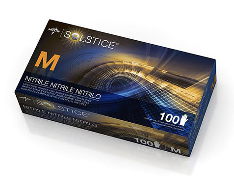 Solstice Nitrile Powder-Free Exam Gloves - Price per 100: $8.60