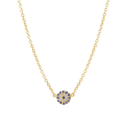 Evil Eye Necklace - Yellow Gold