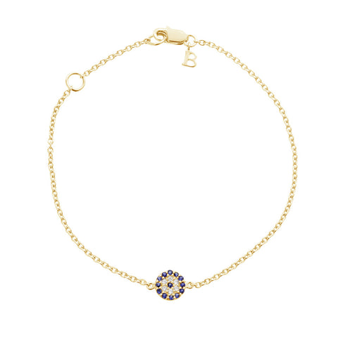 Evil Eye Bracelet - Yellow Gold