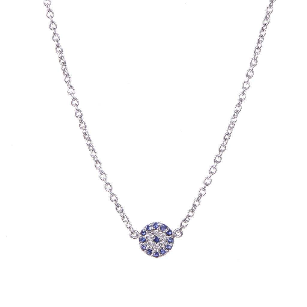 Evil Eye Necklace White Gold Belle Jewelry Belle By Annabelle