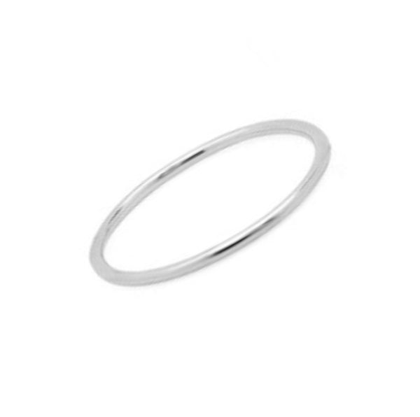 Midi Waif Ring - White Gold