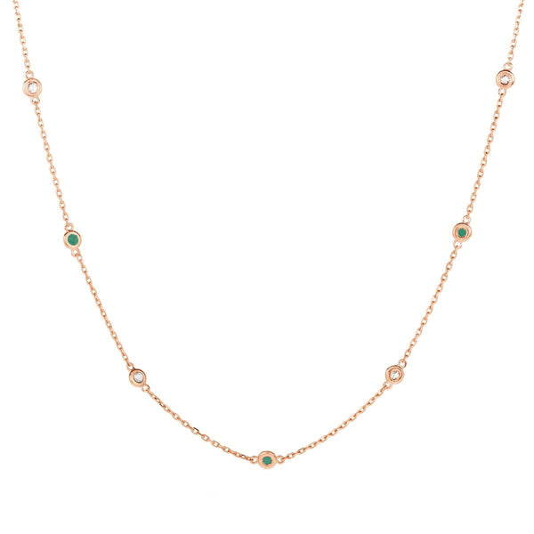 Multi Stone Choker - Green Emerald