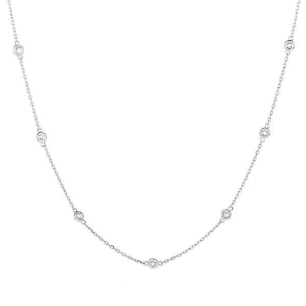 Multi Stone Choker - White Gold