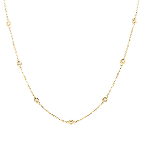 Multi Stone Choker - Yellow Gold