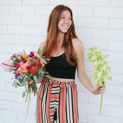 wildflora owner alexandra scholtz studio city los angeles florist designer flowers shop female owned business