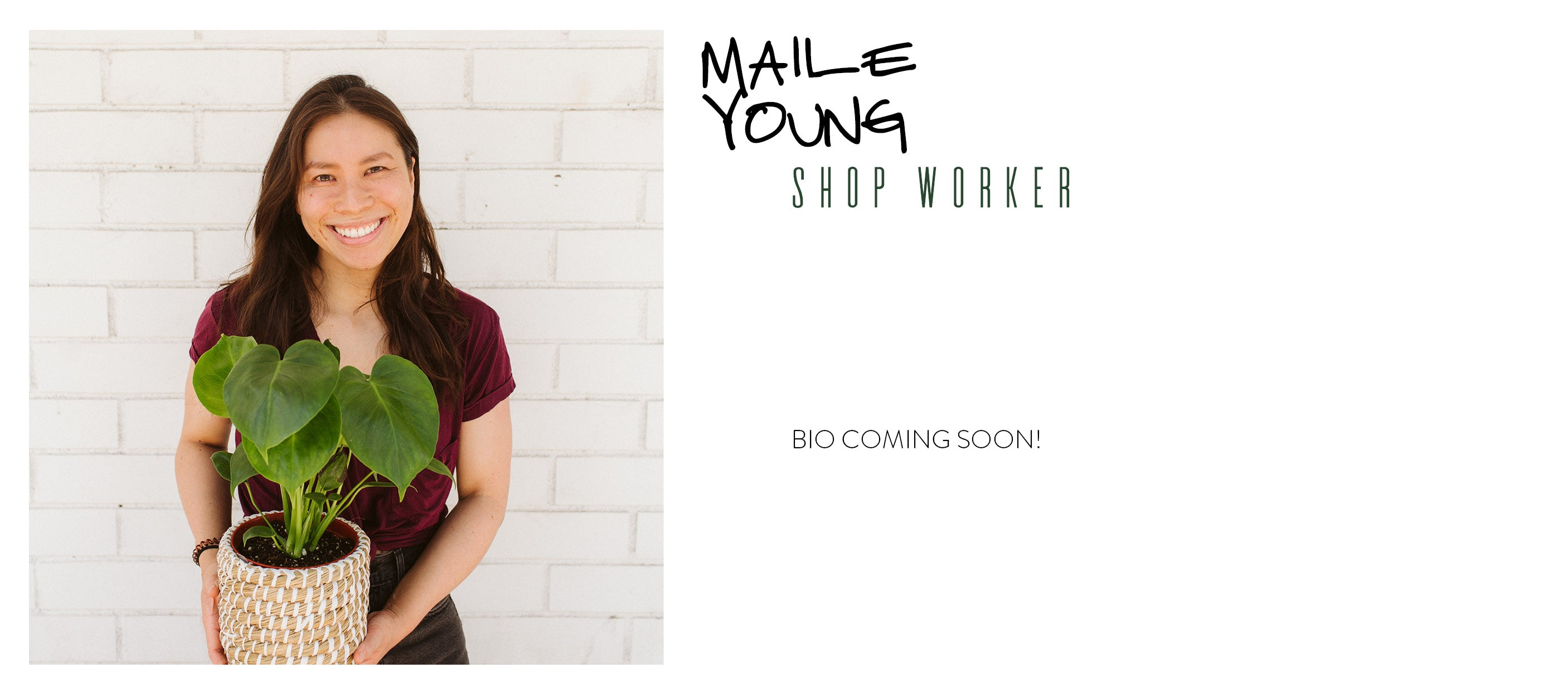maile young staff shop worker wildflora