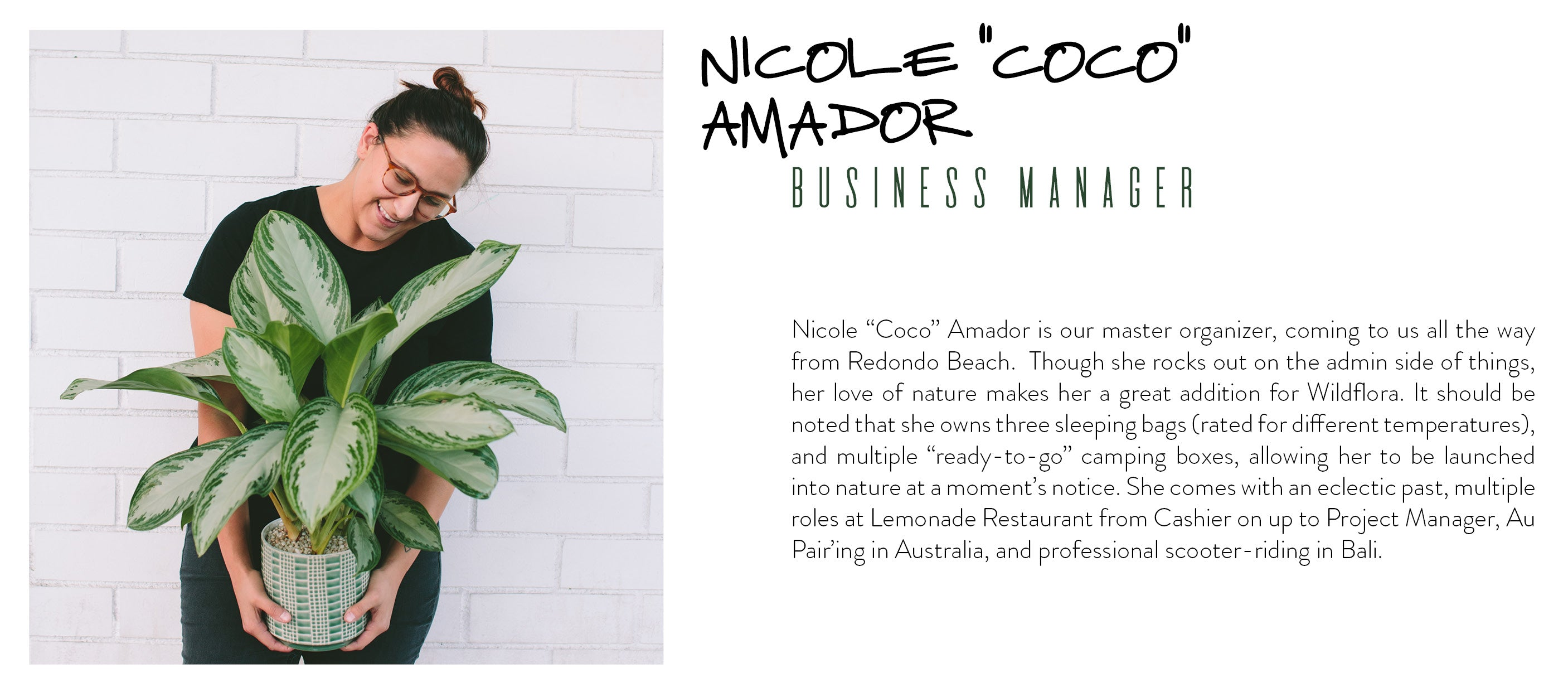 WildFlora staff nicole coco amador business manager