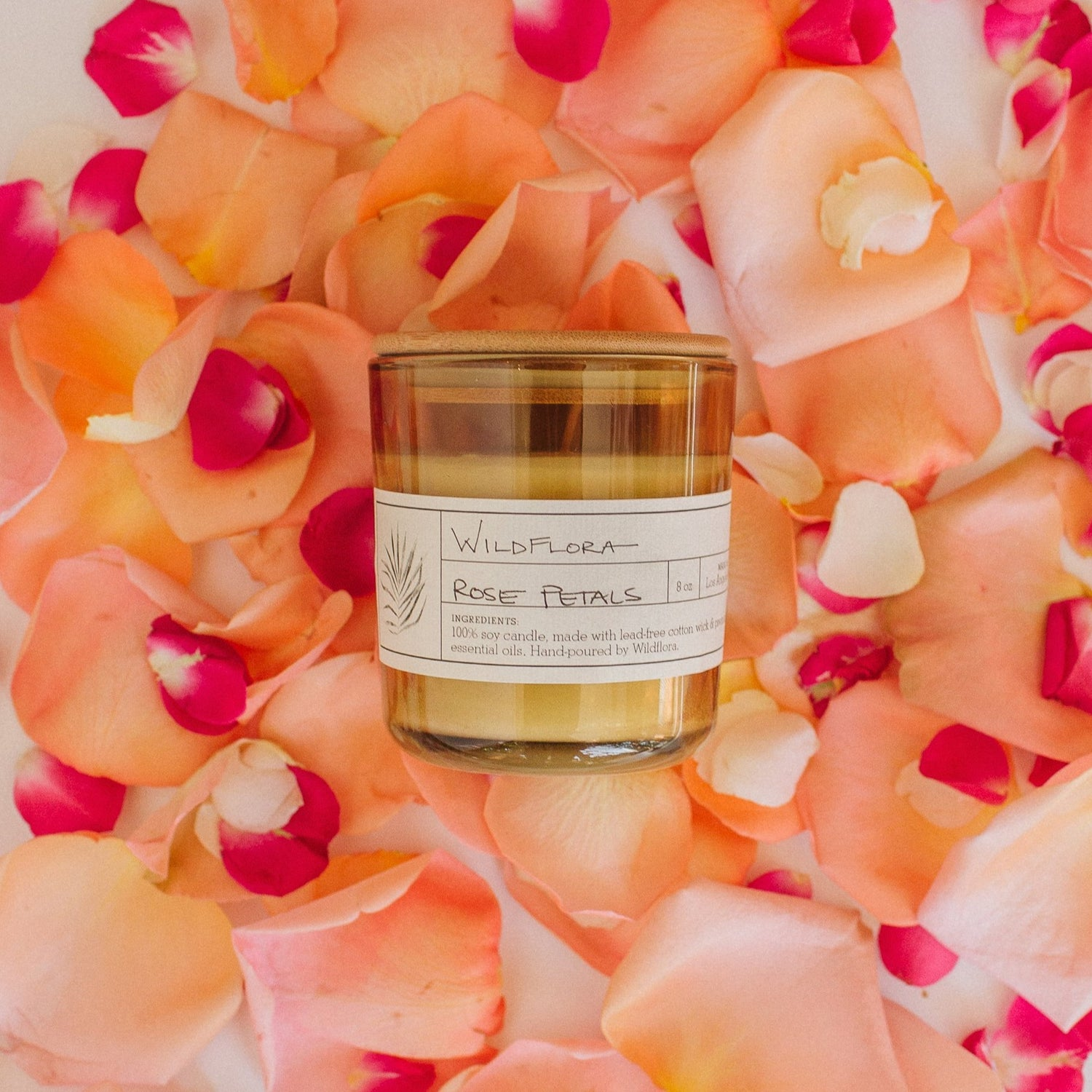 Limited Edition Rose Petals Single Wick Candle