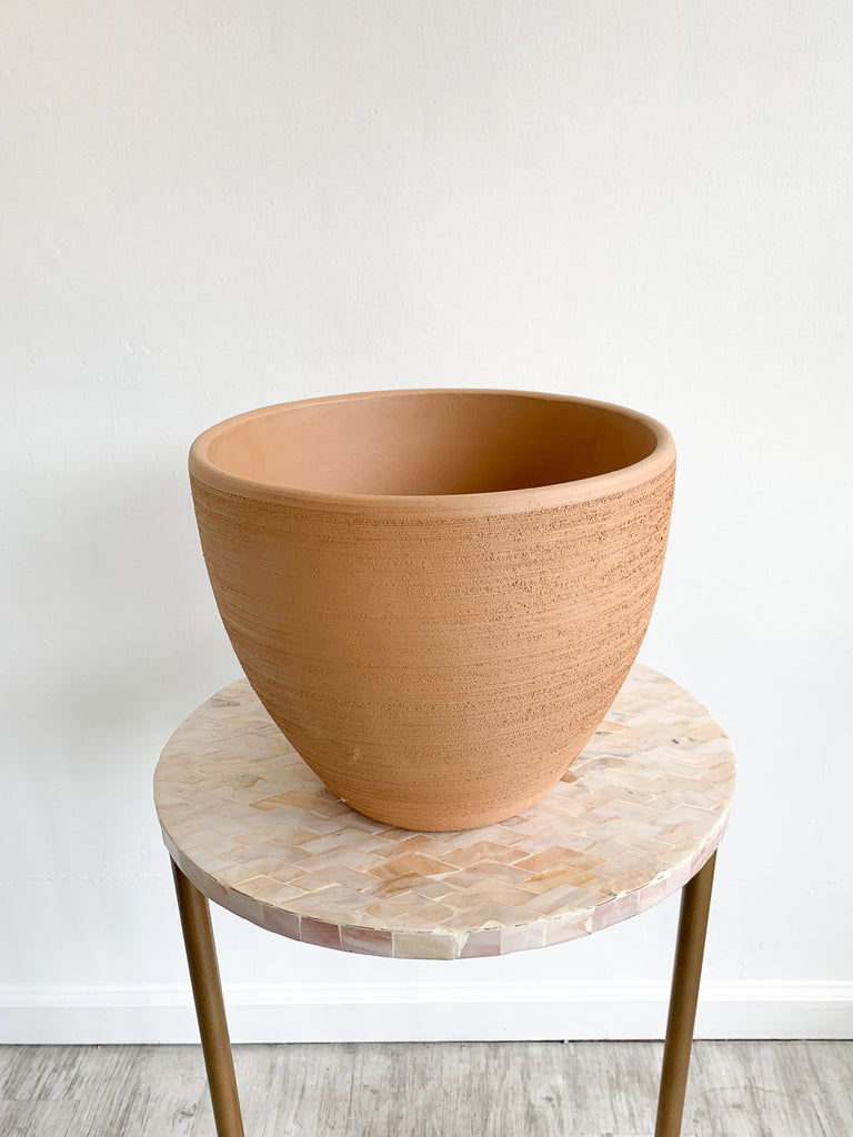 Brushed Terra Cotta Bell Pots (Varying Sizes)