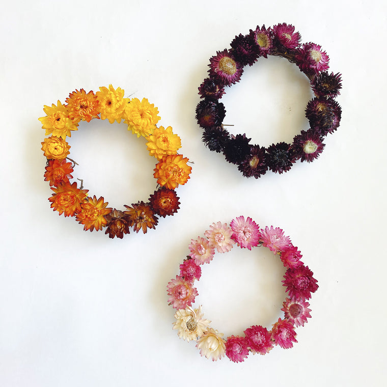 DIY Straw Flower Wreath Kit
