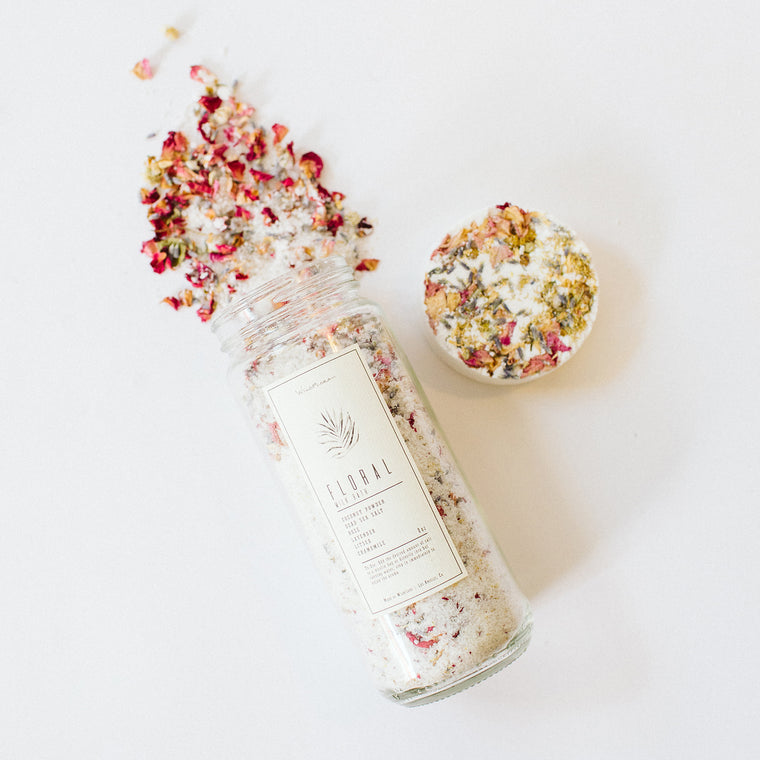 WildFlora Bath Salt + Soak Combo