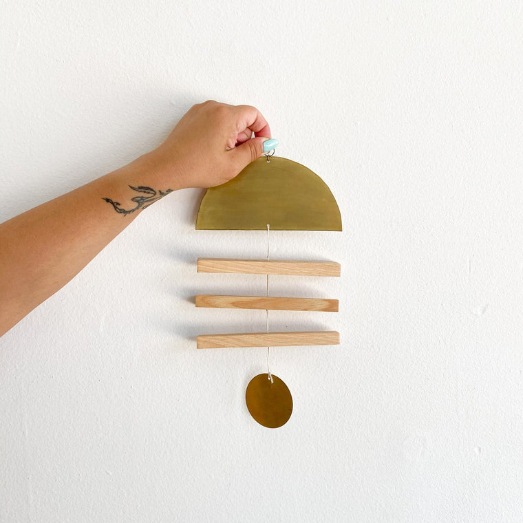 Hickory + Brass Vane Wall Hanging