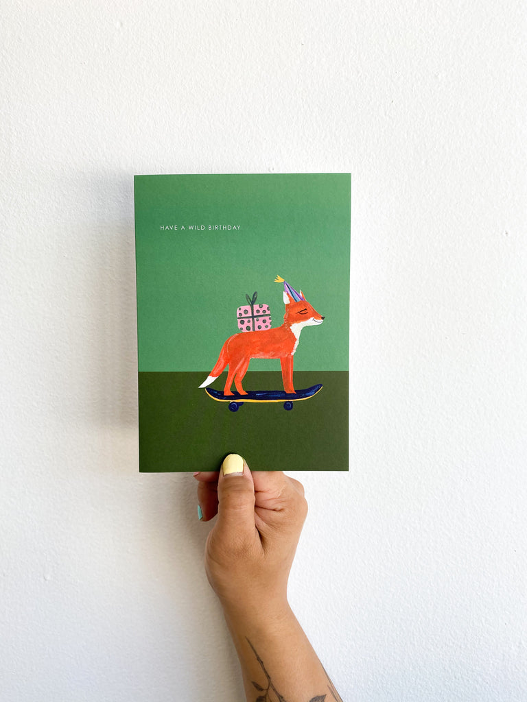 Greeting Card: Green Fox