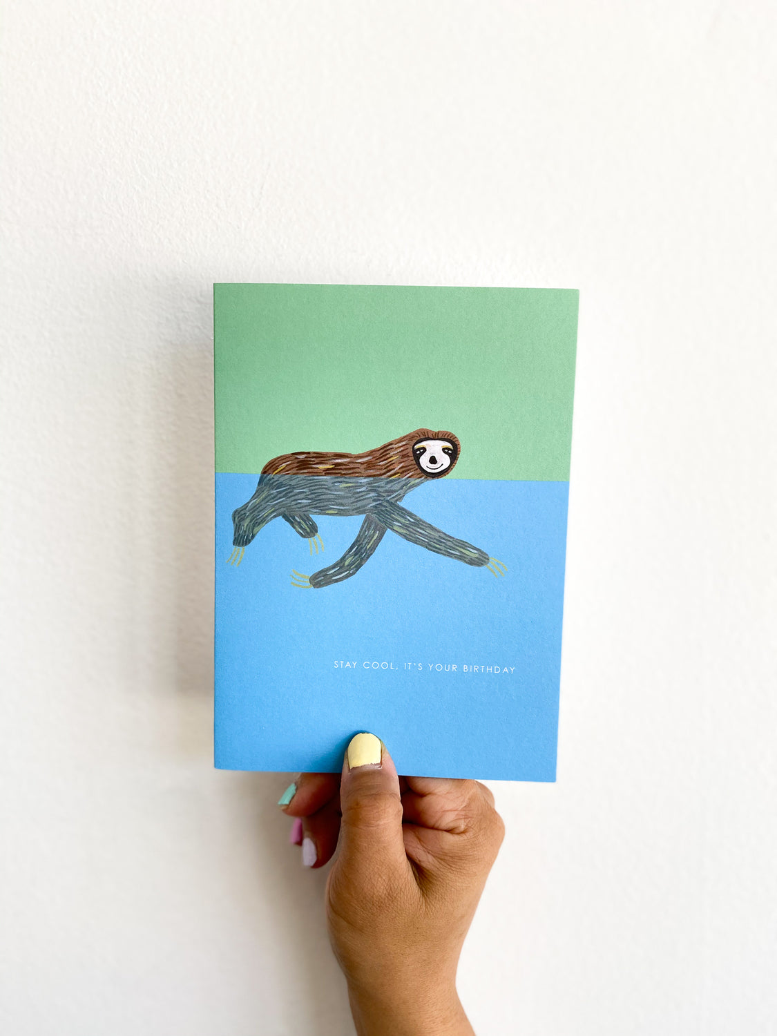 Greeting Card: Blue Sloth