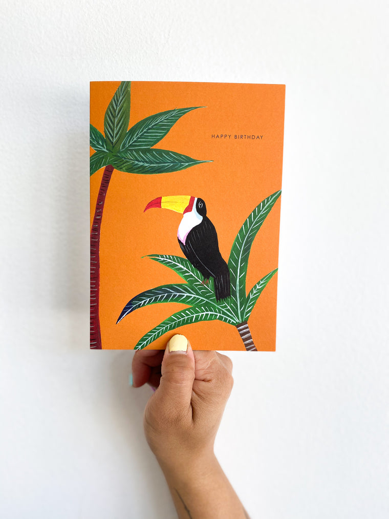 Greeting Card: Orange Tucan