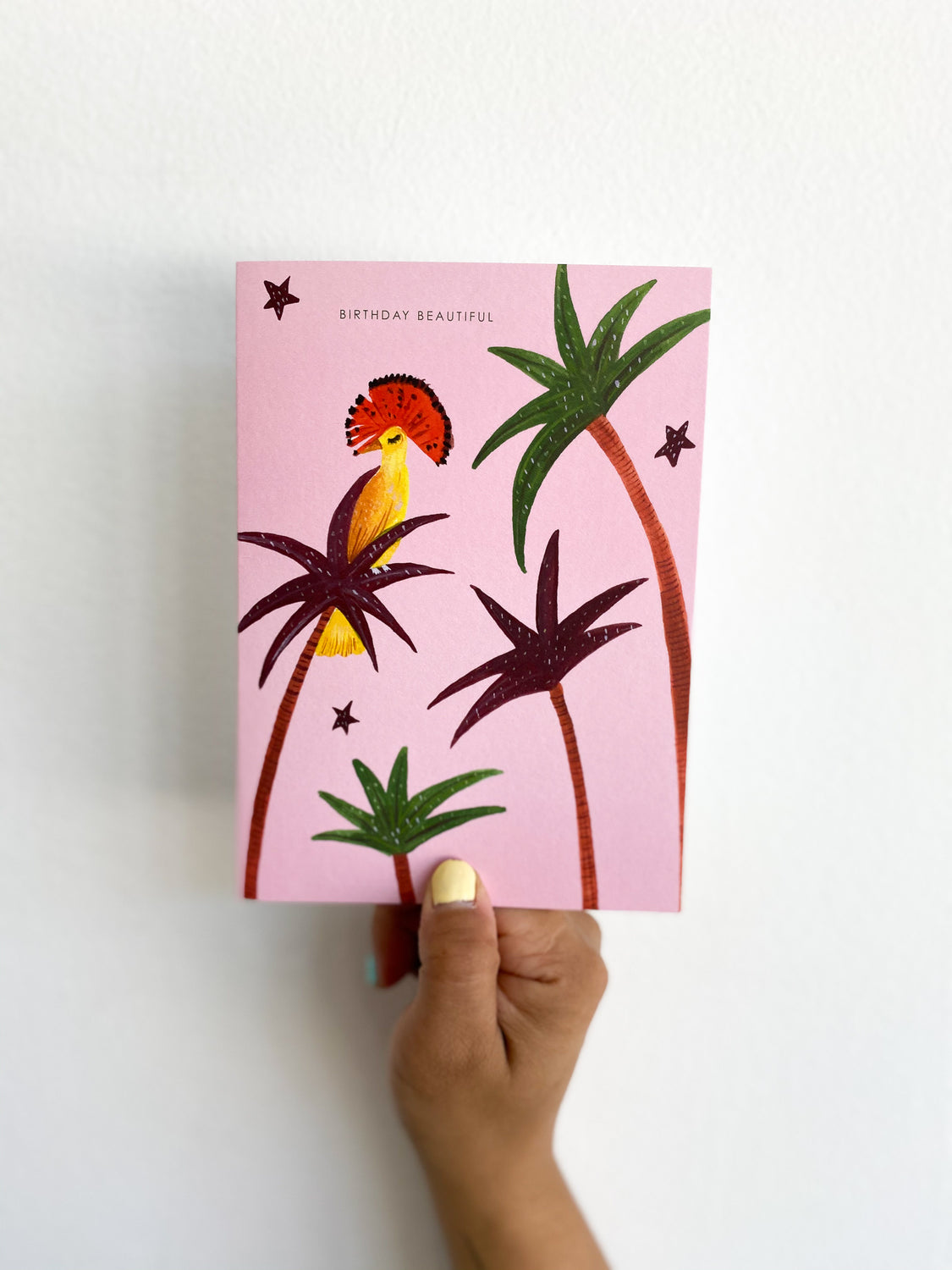 Greeting Card: Pink Bird