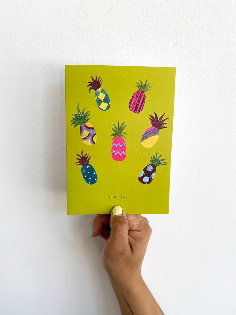 Greeting Card: Green Pineapples