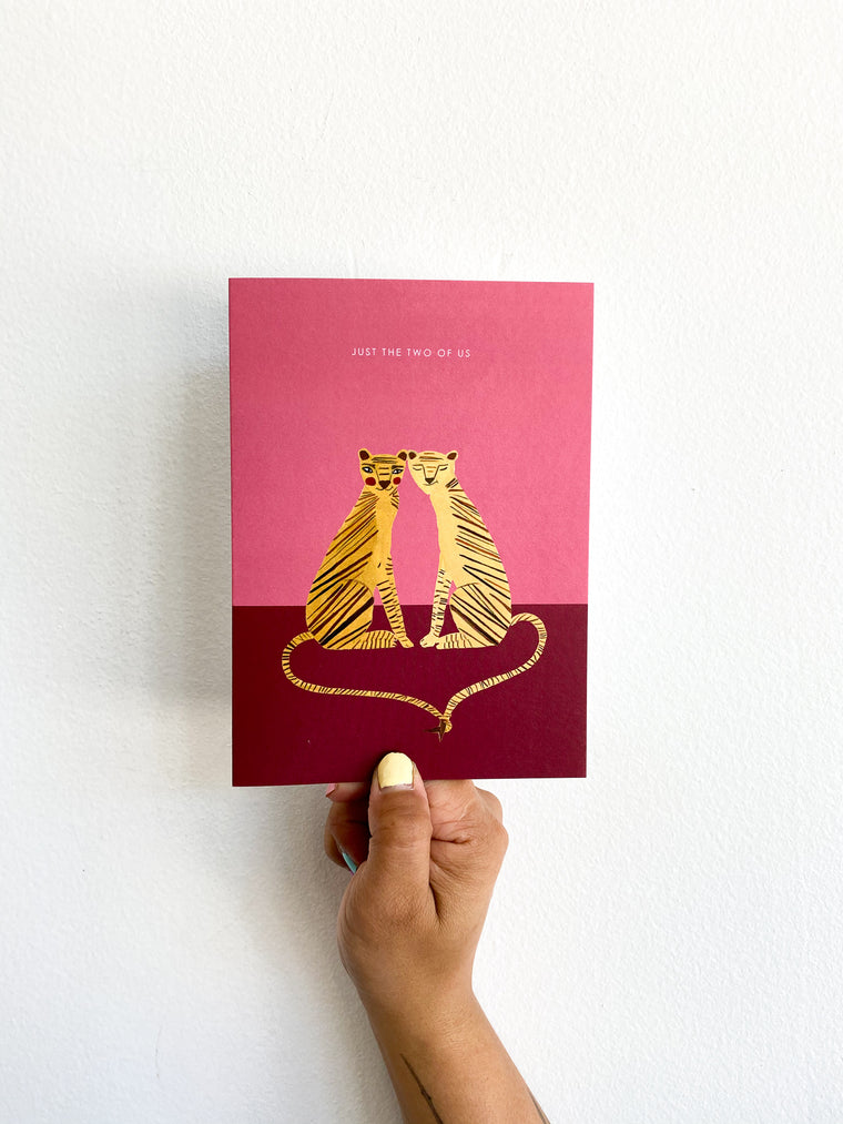 Greeting Card: Pink Tigers
