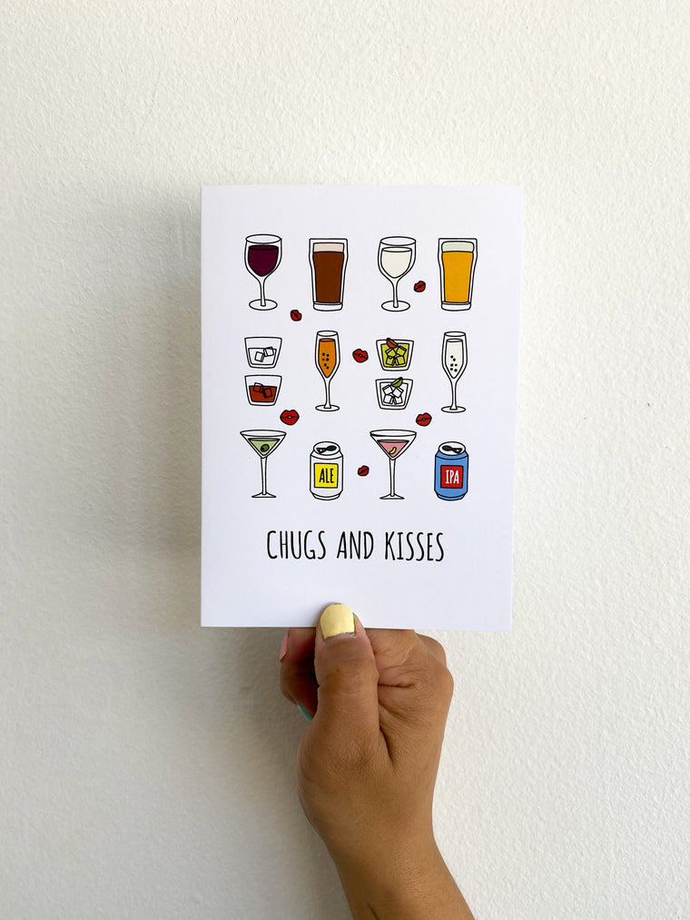 Greeting Card: Chugs & Kisses