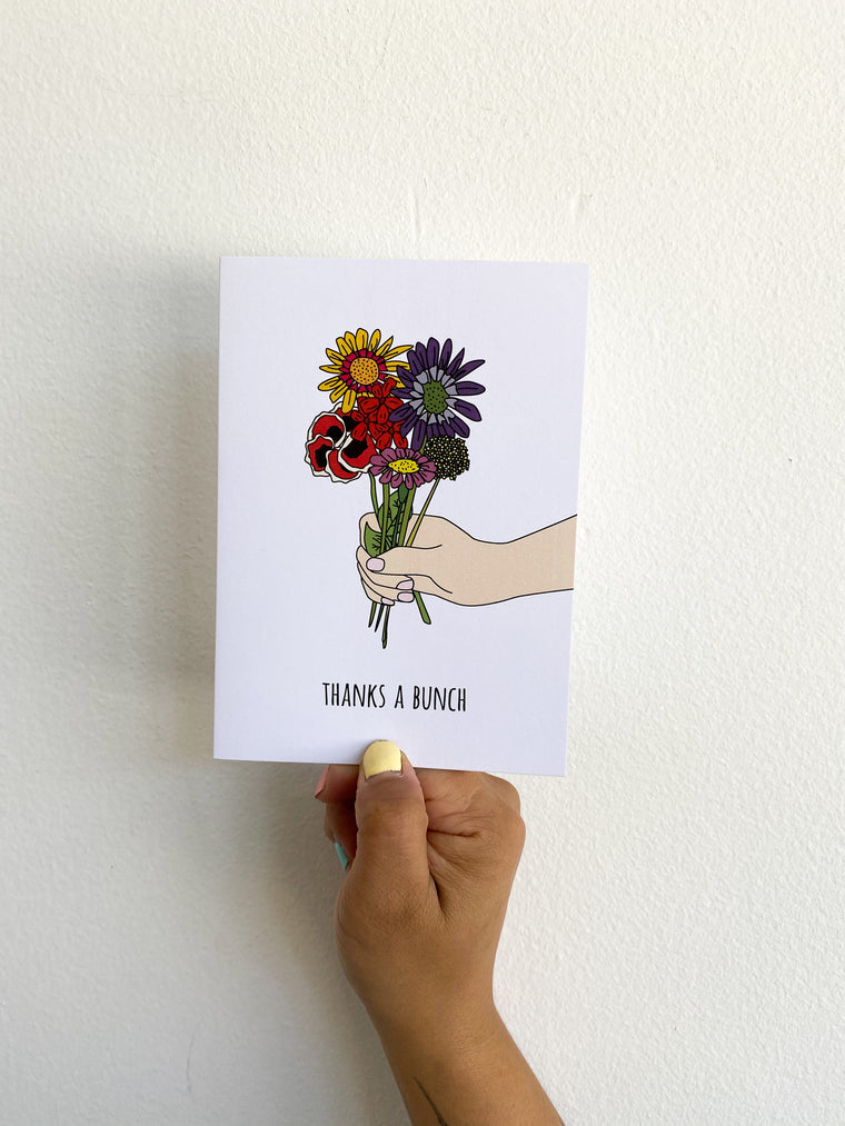 Greeting Card: Thanks a Bunch
