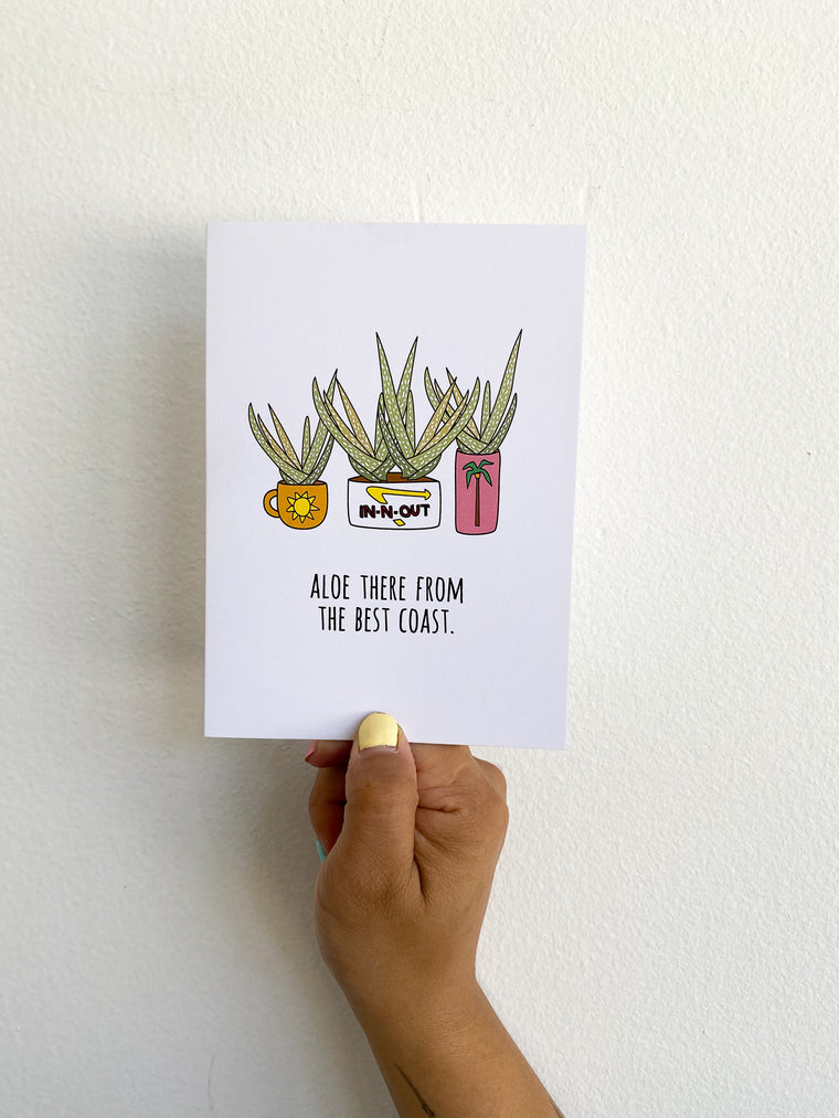 Greeting Card: Aloe there