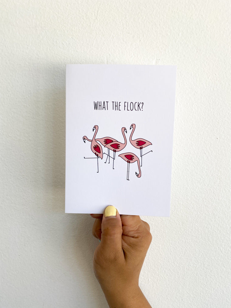 Greeting Card: What the Flock