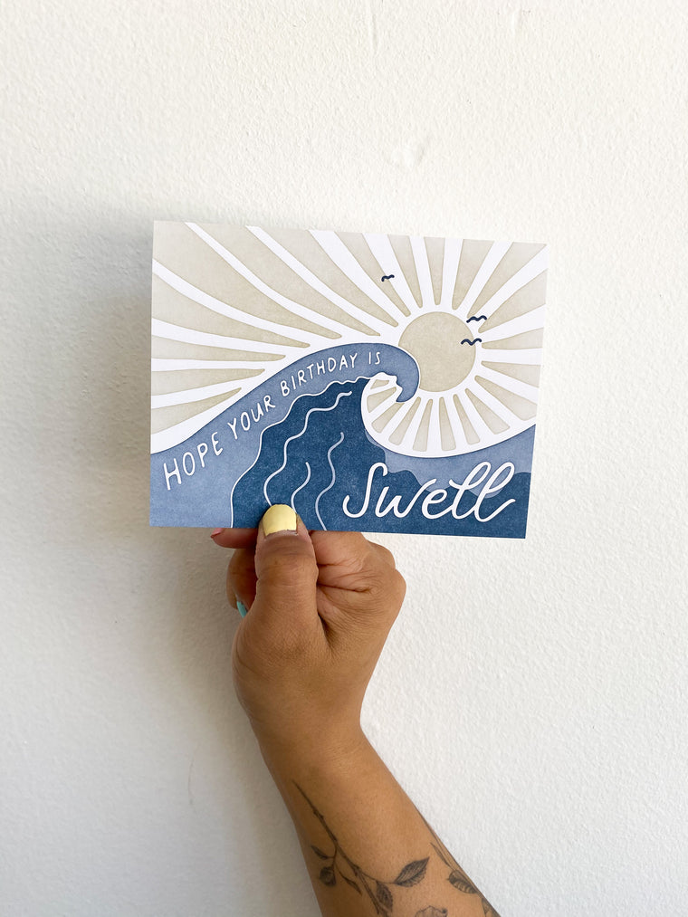 Greeting Card: Birthday Swell